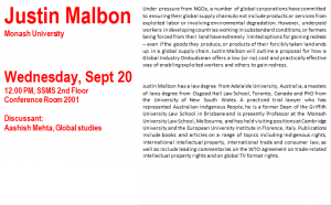 Mellichamp Global Studies Seminar